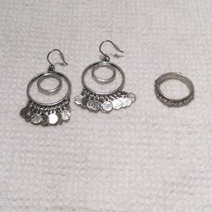 Lucky Brand Boho Earrings & Ring